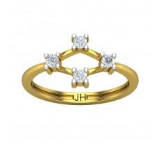 Natural Diamond Ring 0.24 CT / 2.70gm Gold