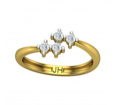Natural Diamond Ring 0.24 CT / 2.70gm Gold