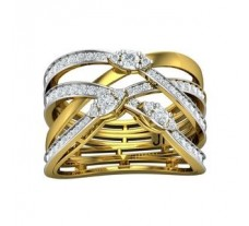 Natural Diamond Ring 0.57 CT / 5.83 gm Gold