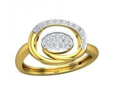 Natural Diamond Ring 0.27 CT / 2.70 gm Gold