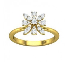 Natural Diamond Ring 0.33 CT / 2.90 gm Gold