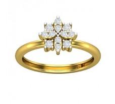 Natural Diamond Ring 0.28 CT / 2.60 gm Gold