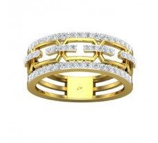 Natural Diamond Band 0.56 CT / 4.00 gm Gold