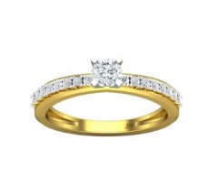 PreSet Natural Solitaire Diamond Ring 0.45 CT / 3.08 gm Gold