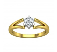 PreSet Natural Solitaire Diamond Ring 0.29 CT / 3.00 gm Gold