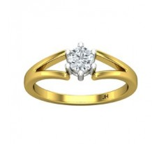 PreSet Natural Solitaire Diamond Ring 0.40 CT / 3.00 gm Gold