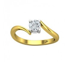 PreSet Natural Solitaire Diamond Ring 0.40 CT / 2.80 gm Gold