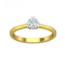 PreSet Natural Solitaire Diamond Ring 0.40 CT / 2.30 gm Gold