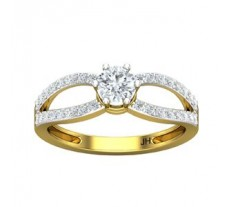 PreSet Natural Solitaire Diamond Ring 0.72 CT / 2.80 gm Gold