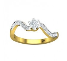 Natural Diamond Ring 0.41 CT / 2.40 gm Gold