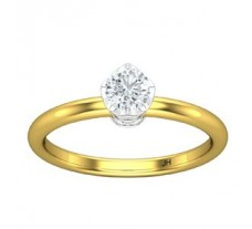 PreSet Natural Solitaire Diamond Ring 0.49 CT / 2.40 gm Gold