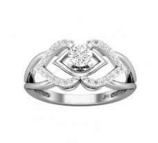 PreSet Natural Solitaire Diamond Ring 0.54 CT / 2.60 gm Gold