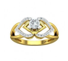 PreSet Natural Solitaire Diamond Ring 0.64 CT / 3.30 gm Gold