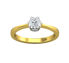 PreSet Natural Solitaire Diamond Ring 0.40 CT / 2.50 gm Gold