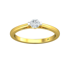 Natural Diamond Ring 0.25 CT / 2.10 gm Gold