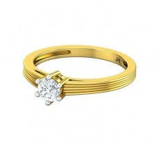 PreSet Natural Solitaire Diamond Ring 0.30 CT / 2.50 gm Gold