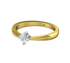 Natural Diamond Ring 0.25 CT / 2.70 gm Gold