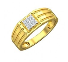 Natural Diamond Ring for Men 0.24 CT / 5.34 gm Gold