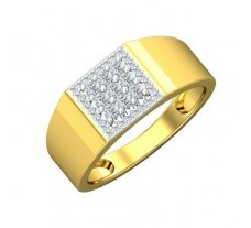 Natural Diamond Ring for Men 0.41 CT / 5.54 gm Gold