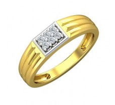 Natural Diamond Ring for Men 0.15 CT / 4.31 gm Gold