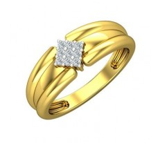 Natural Diamond Ring for Men 0.13 CT / 5.27 gm Gold