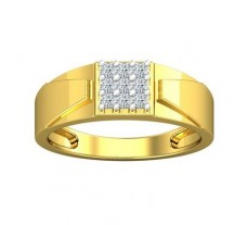 Natural Diamond Ring for Men 0.27 CT / 4.95 gm Gold