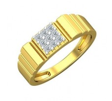 Natural Diamond Ring for Men 0.27 CT / 4.94 gm Gold