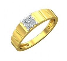 Natural Diamond Ring for Men 0.24 CT / 4.15 gm Gold