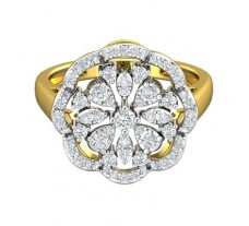 Natural Diamond Ring 0.63 CT / 5.18 gm Gold