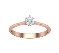 PreSet Natural Solitaire Diamond Ring 0.30 CT / 1.80 gm Gold