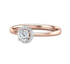 PreSet Natural Solitaire Diamond Ring 0.34 CT / 1.80 gm Gold