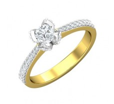 PreSet Natural Solitaire Diamond Ring 0.59 CT / 4.50 gm Gold
