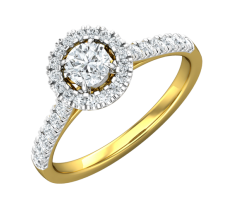 PreSet Natural Solitaire Diamond Ring 0.77 CT / 3.80 gm Gold