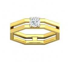 PreSet Natural Solitaire Diamond Ring 0.30 CT / 4.50 gm Gold