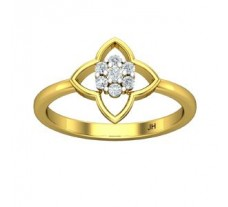 Natural Diamond Ring 0.15 CT / 2.45 gm Gold