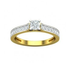 PreSet Natural Solitaire Diamond Ring 0.63 CT / 3.50 gm Gold
