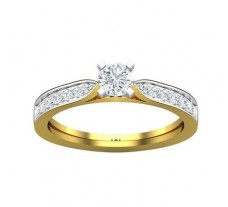 PreSet Natural Solitaire Diamond Ring 0.64 CT / 4.50 gm Gold