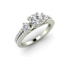 Diamond Solitaire Ring 0.89 CT / 5.00 gm Gold