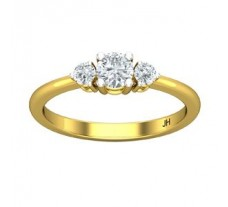 Natural Diamond Solitaire Ring 0.37 CT / 2.30 gm Gold