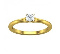Natural Diamond Solitaire Ring 0.25 CT / 2.41 gm Gold
