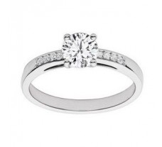 Diamond Solitaire Ring 0.37 CT / 2.38 gm GOLD