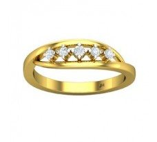 0.13 CT Stylish Natural Diamond Ring in 2.60gm Hallmarked Gold