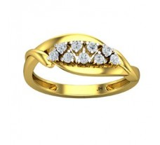 Natural Diamond Ring 0.20 CT / 3.00 gm Gold