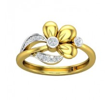 Natural Diamond Ring 0.15 CT / 2.75 gm Gold