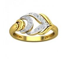Natural Diamond Ring 0.15 CT / 2.55 gm Gold