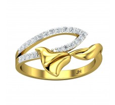 Natural Diamond Ring 0.21 CT / 2.45 gm Gold