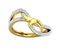 Natural Diamond Ring 0.35 CT / 2.70 gm Gold