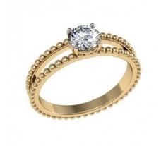 Natural Diamond Solitaire Ring  0.25 CT / 4.00 gm Gold