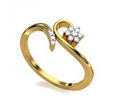 Diamond Designer Ring  0.10 CT / 2.00 gm Gold