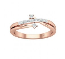 Natural Diamond Ring 0.14 CT / 2.75 gm Gold